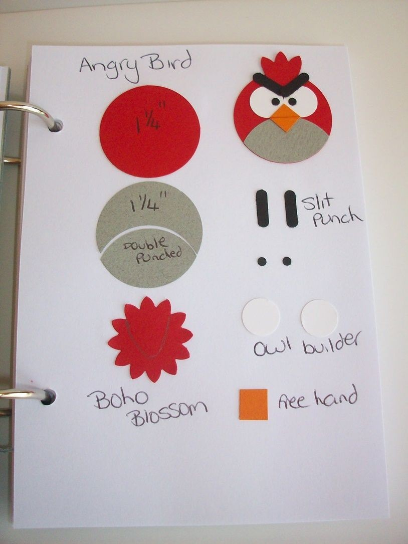 Papercraft Punches Eu Amo Artesanato Angry Birds Бумажный Арт Pinterest