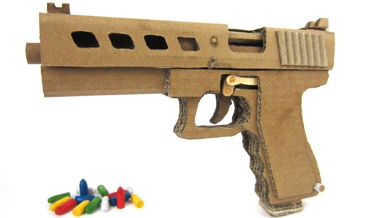 Papercraft Revolver How to Make Glock Gun 19 that Shoots Bullets Cardboard Gun with