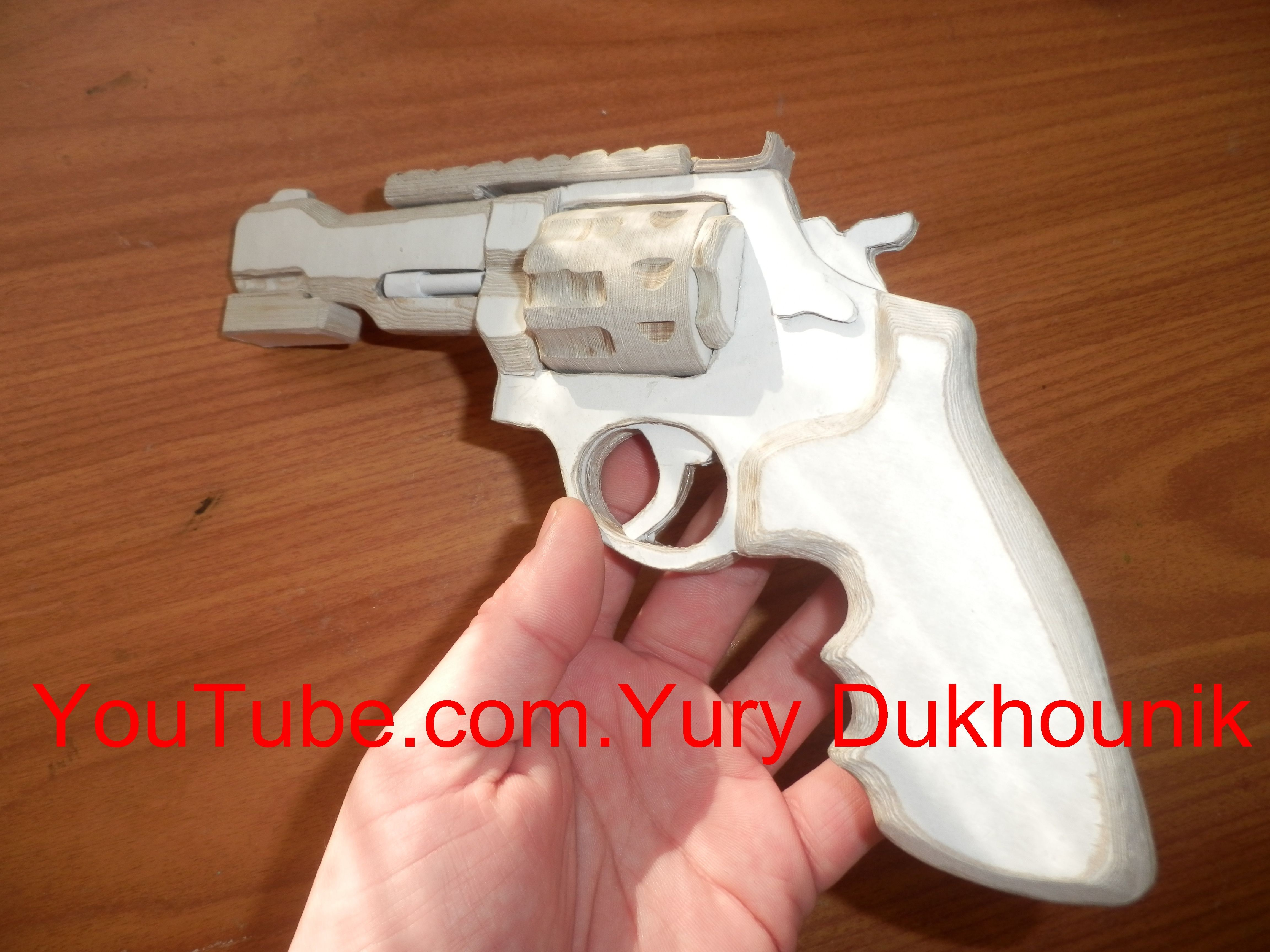 Papercraft Revolver Pin by Yurydukhounik On How to Make A Gun Revolver R8 Paper