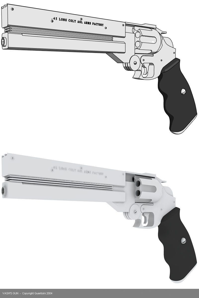 Papercraft Revolver the 60 Billion Double Dollar Man S Gun From Trigun the One and Only