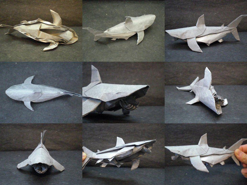 Papercraft Shark White Shark Collage Trollip by origami Artist Galen On Deviantart