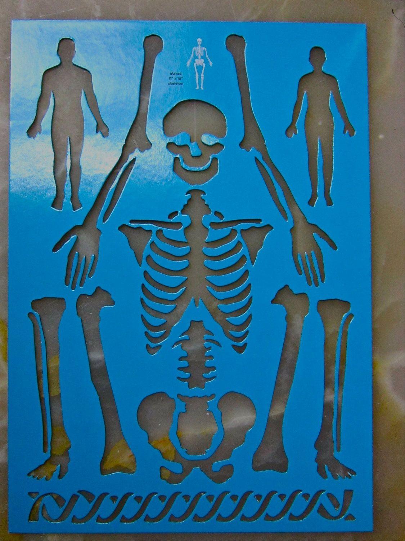 Papercraft Skeleton Skeleton Human Body Arms Legs Bones Skull Art Stencil Halloween