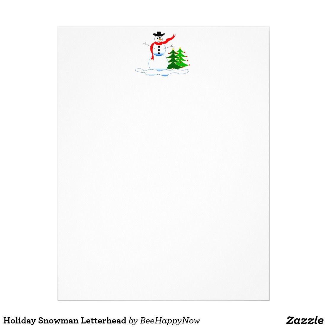 Papercraft Snowman Holiday Snowman Letterhead Pinterest