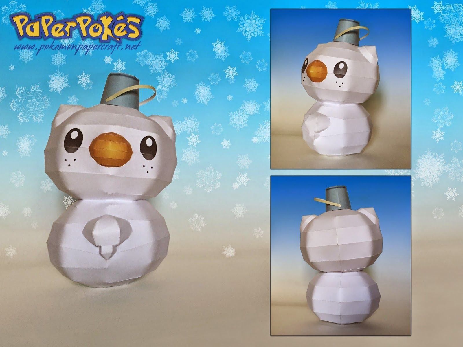 Papercraft Snowman Paperpokés Pokémon Papercrafts Snowshawott