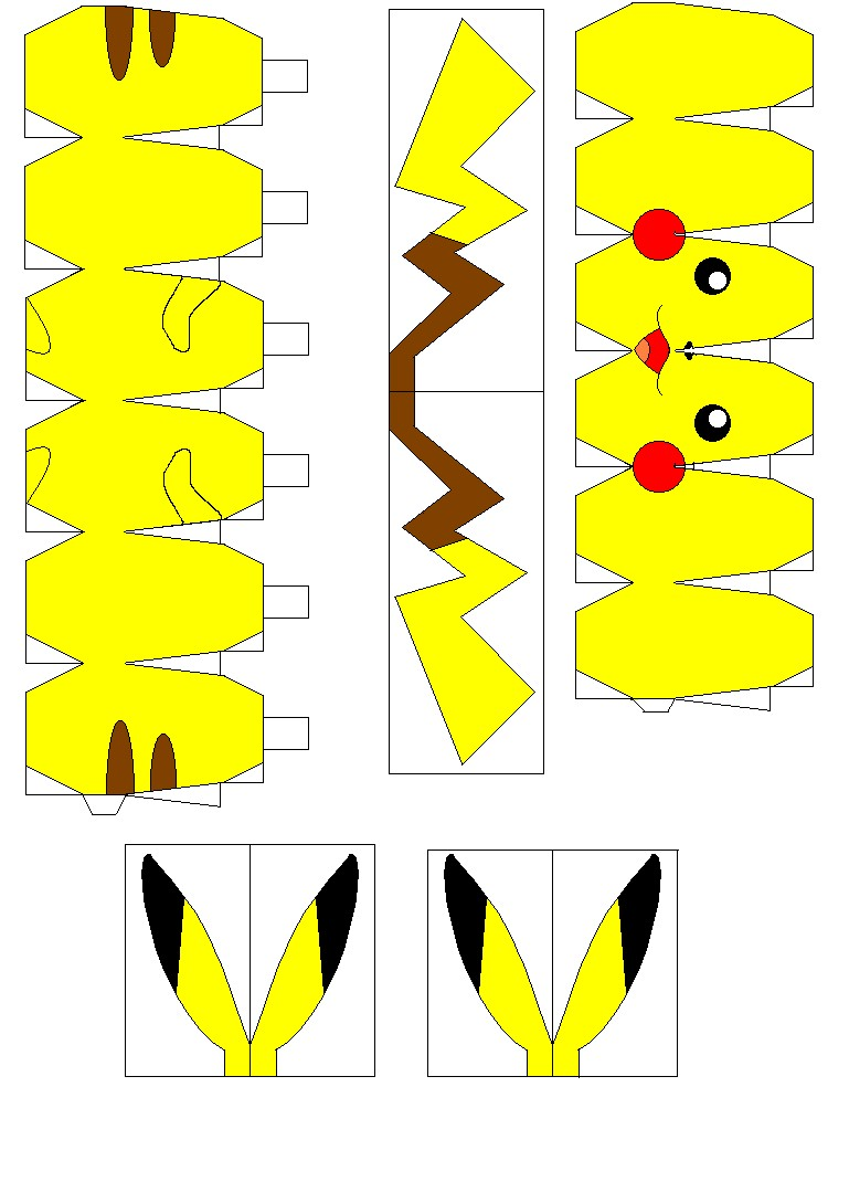 Papercraft sonic Pikachu Things I Want Pinterest