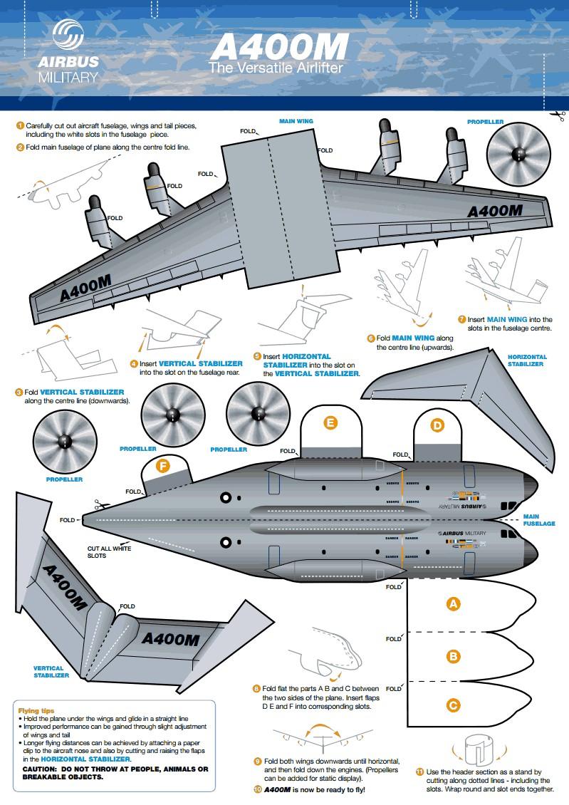 Papercraft Space Shuttle Construye Tu A400m De Papel เครื่องบิน Pinterest