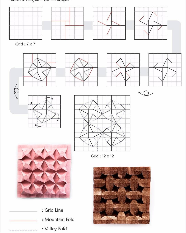 Papercraft Star My Challenge 3d Ninja Star Tessellation origamitessellation