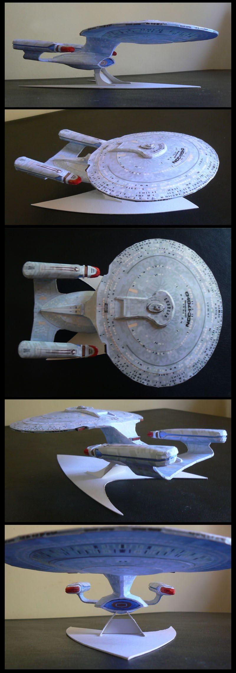 Papercraft Star Trek Uss Enterprise Papercraft by Elengwat On Deviantart