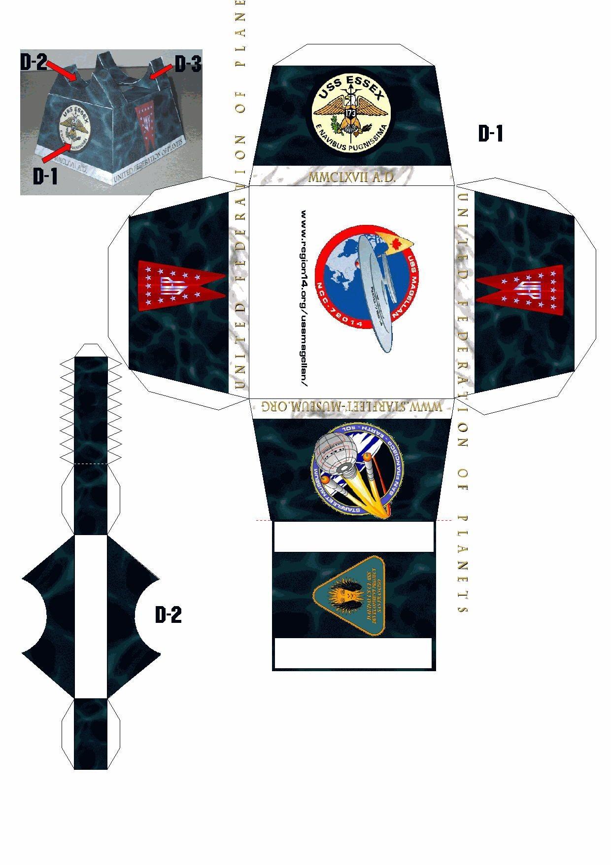 Papercraft Star Trek Uss Es A Daedalus Class Starship Card Paper Models
