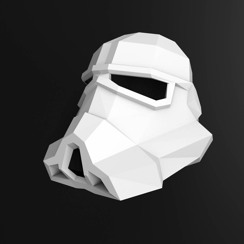 Papercraft Stormtrooper Helmet Diy Stormtrooper Mask Papercraft Stormtrooper Mask Star