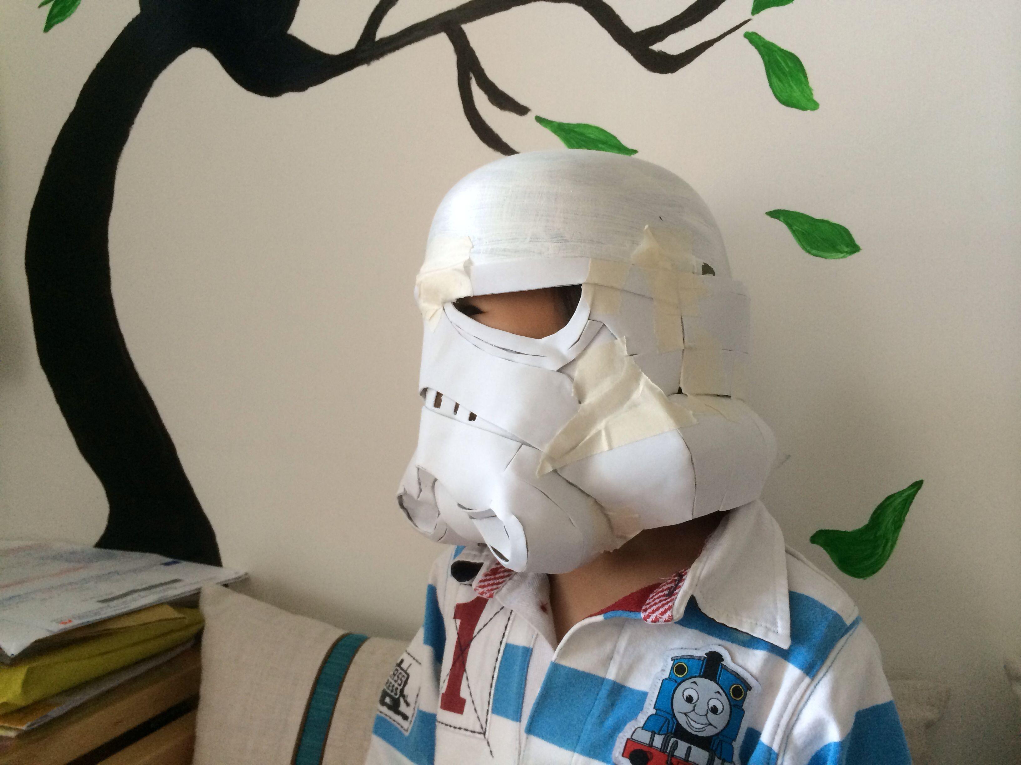 Papercraft Stormtrooper Helmet Stormtrooper Helmet Wip Diy Stormtrooper Sandtrooper