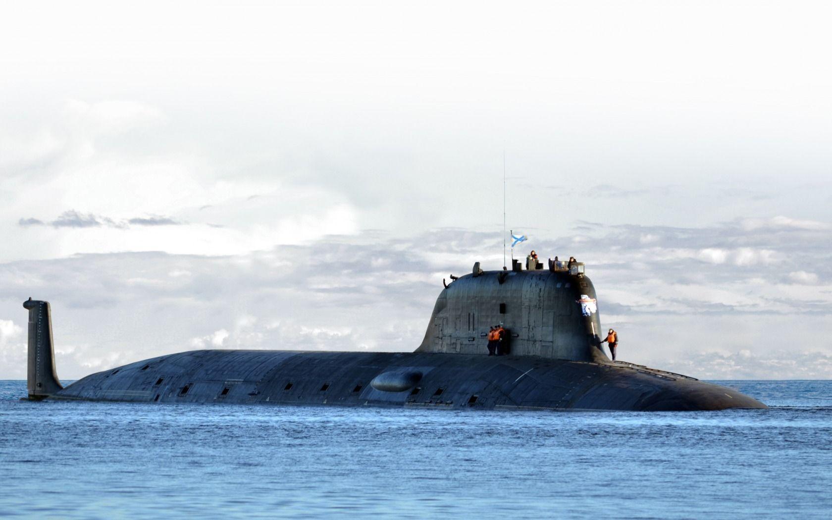 Papercraft Submarine Russian Yasen Class Submarine Severodvinsk K 329 [1680 1050