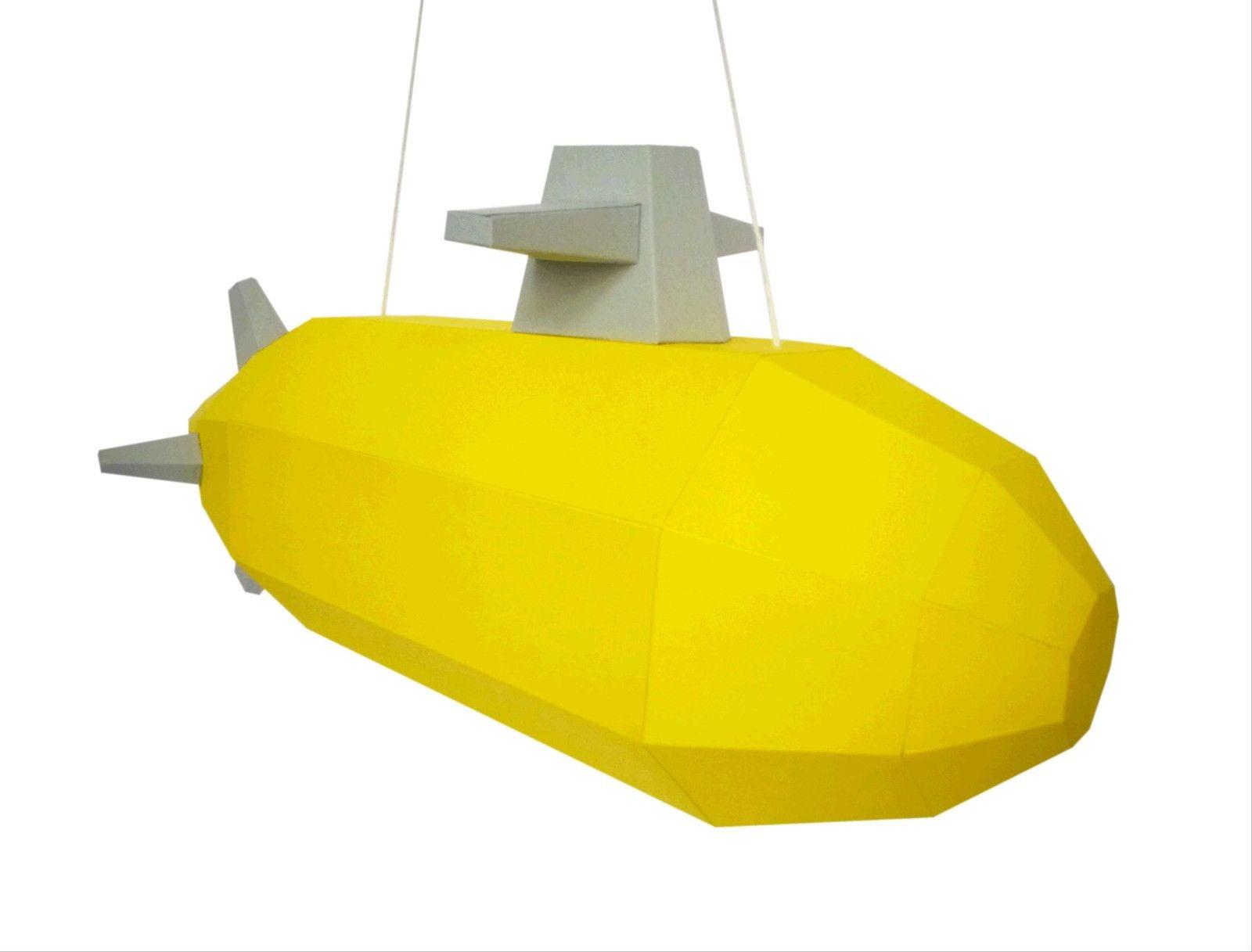 Papercraft Submarine Yellow Submarine Staňte Se Kapitánem žluté Ponorky Upozorněn