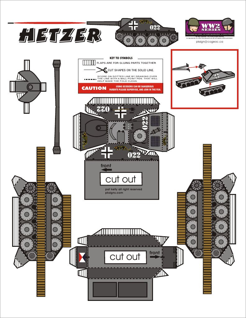 Papercraft Tank Hetzer Tank Papercraft