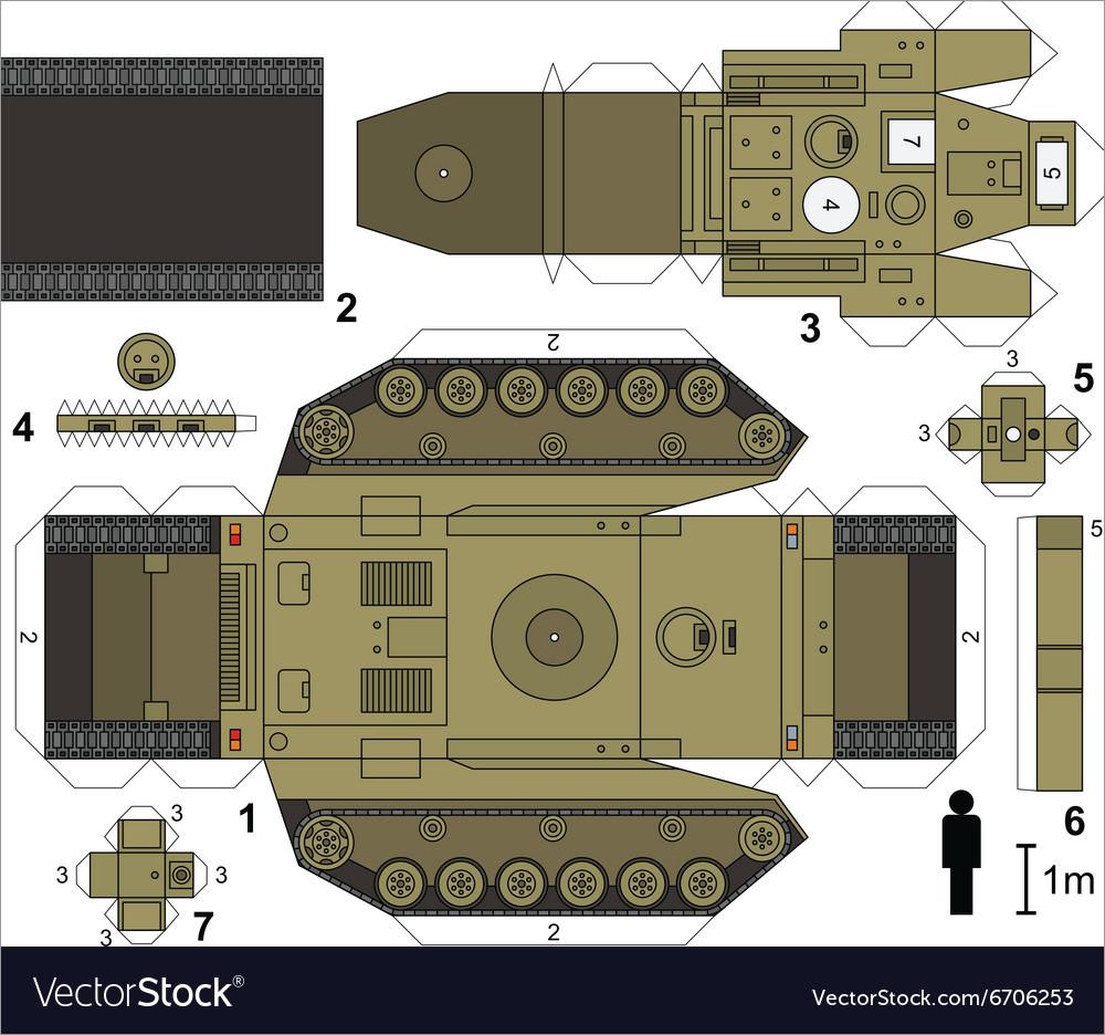 Papercraft Tank T18 Tank Papercraft