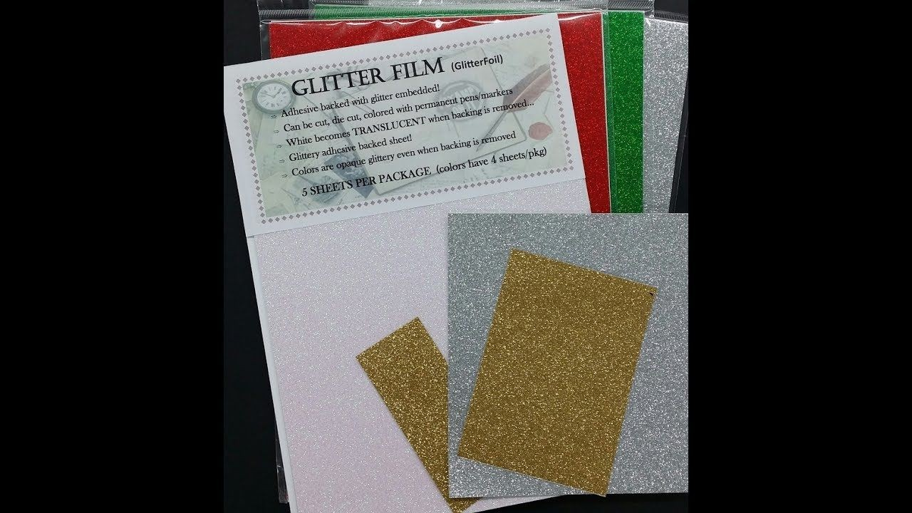 Papercraft Techniques Glitterfoil Glitter 4 Techniques 1001