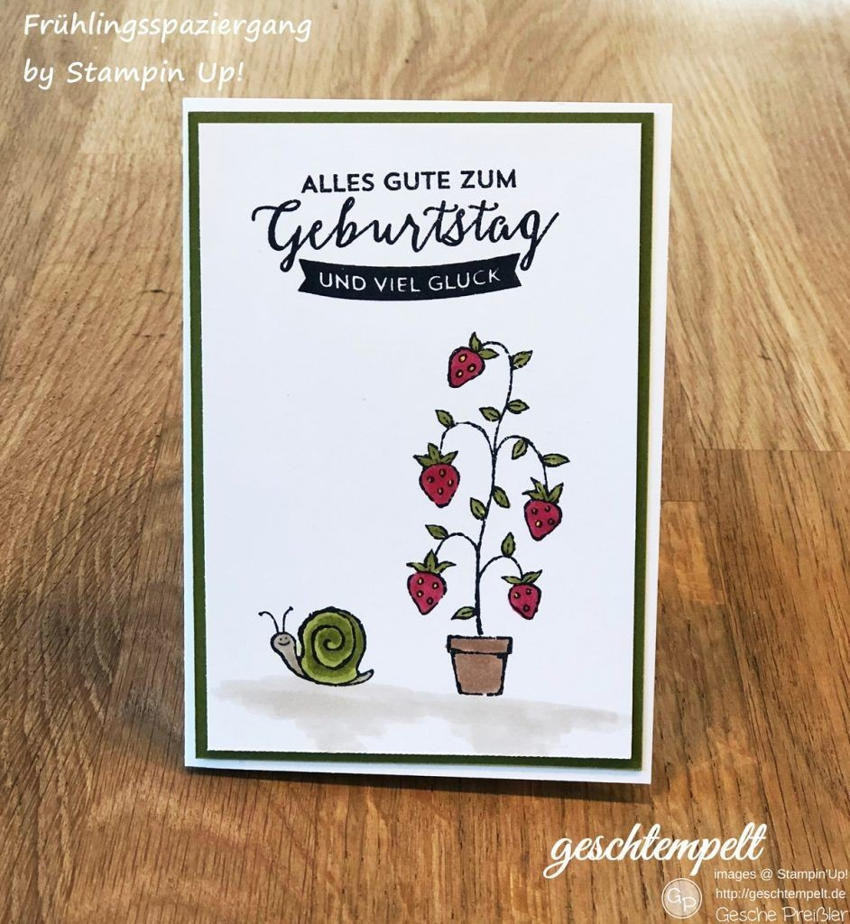 Papercraft Techniques Stempelreise Blogparade Juni – sommer sonne Erdbeeren