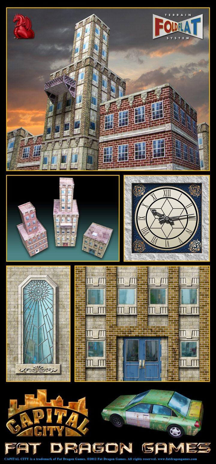 Papercraft Terrain Capital City Building Expansion Set 1 Fdg0130