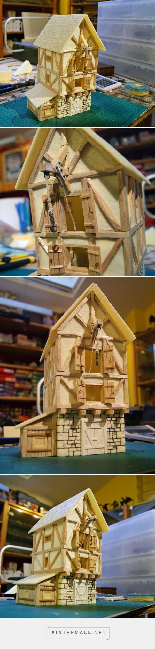Papercraft Terrain Miniature Warfare Me Val Warehouse Wip Created Via