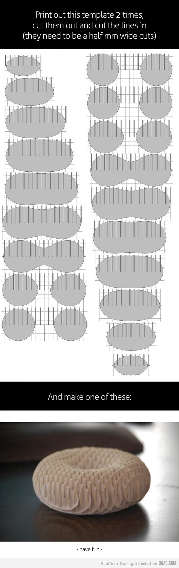 Papercraft Viewer How to Make A 3d Paper torus Craft Ideas Pinterest