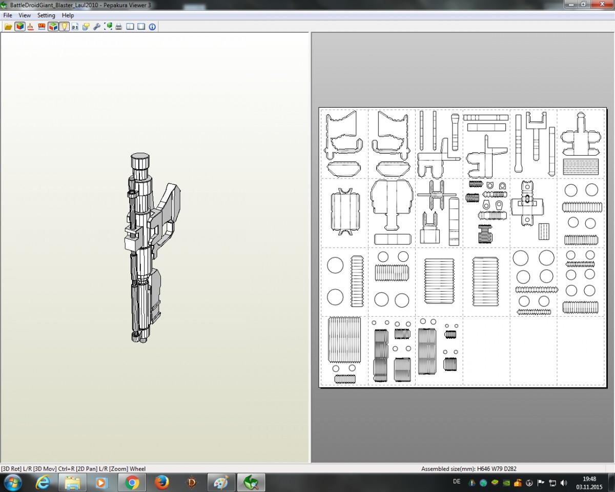Papercraft Viewer Möge Macht Mit Euch Sein Dies ist Eine Anleitung Für Eine 1 90m