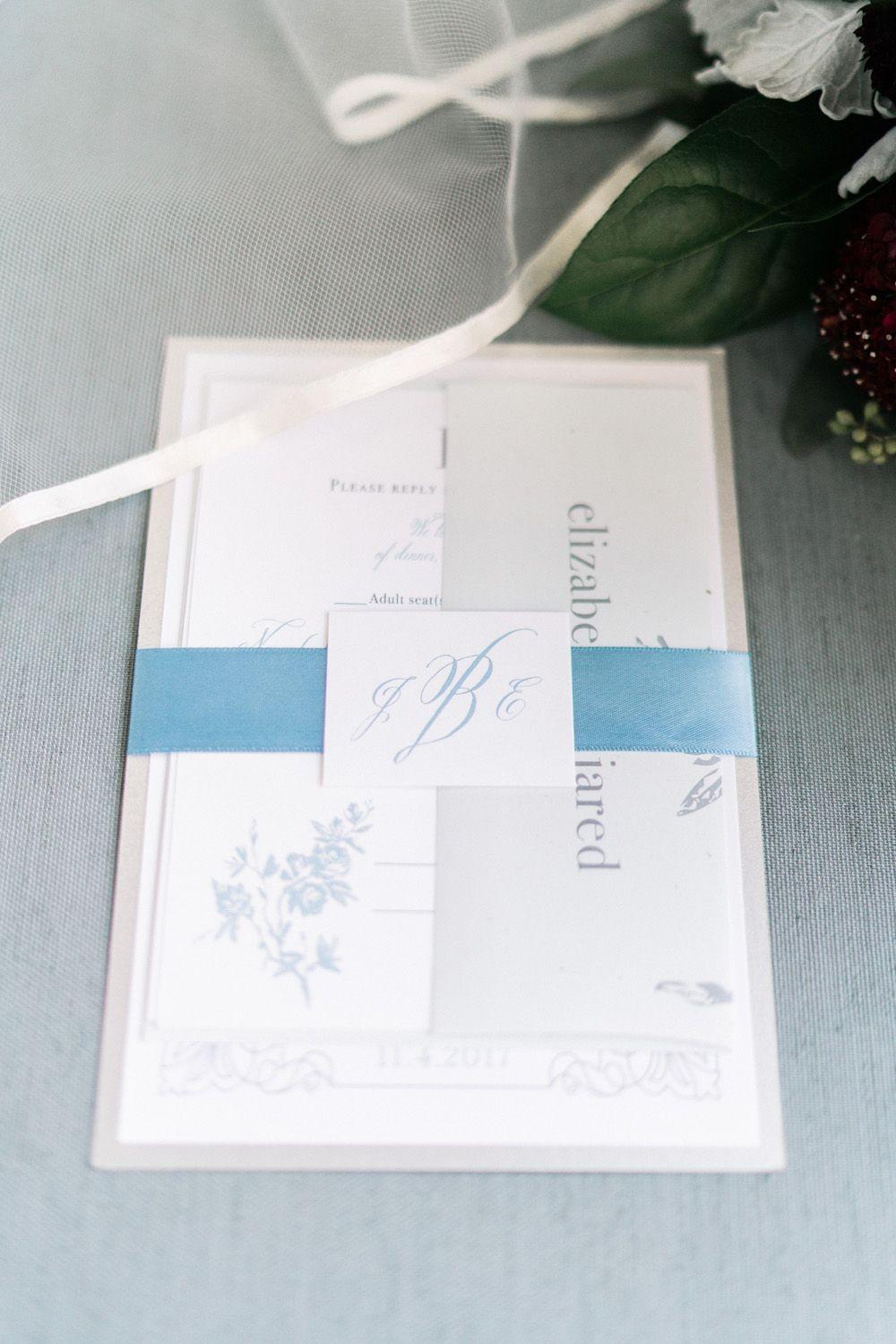 Papercraft Wedding Dusty Blue north Carolina Bl Real Wedding