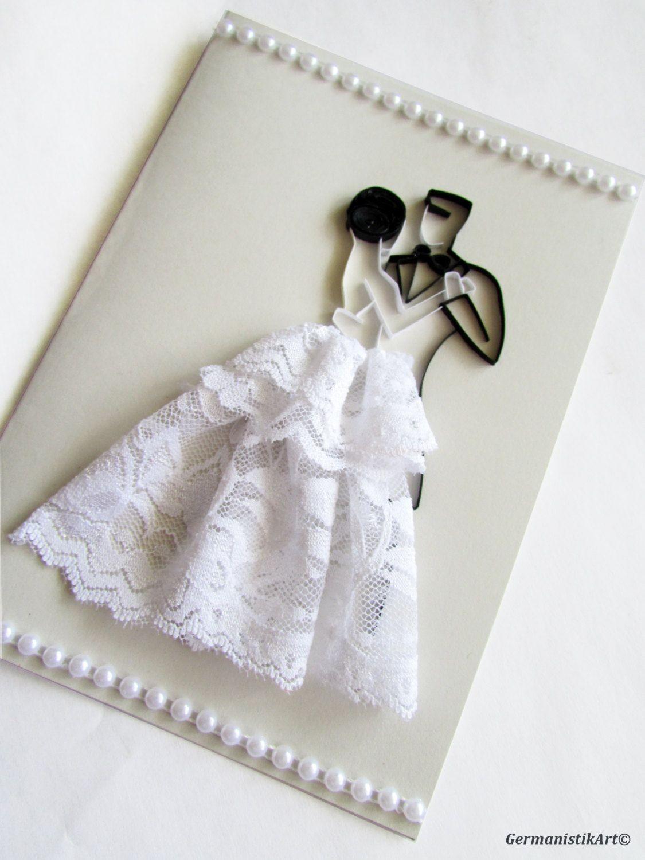 Papercraft Wedding Personalised Wedding Congratulation Card Quilling Wedding Couple