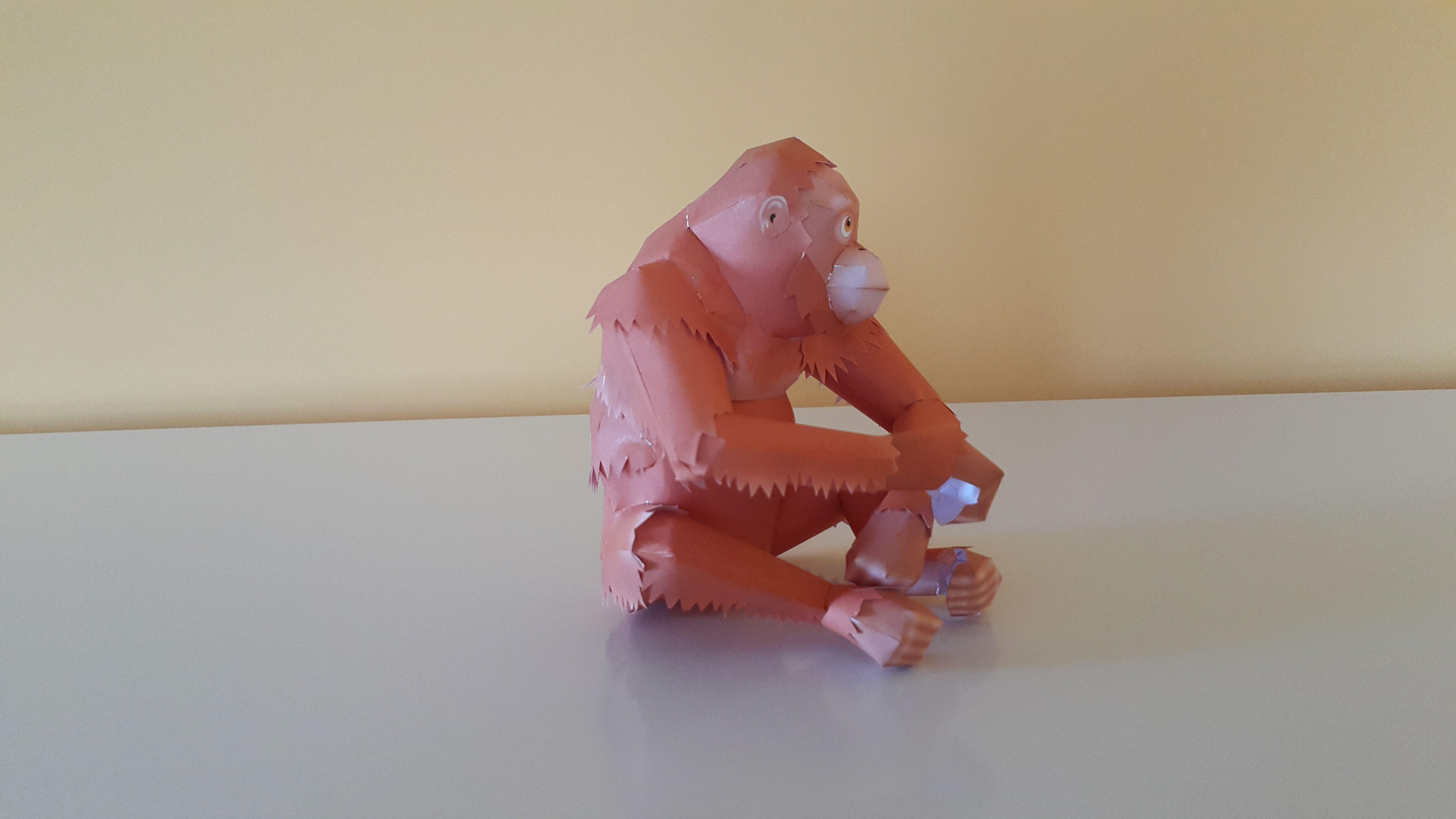 Papercraft Yamaha orangutan Papercraft Pinterest