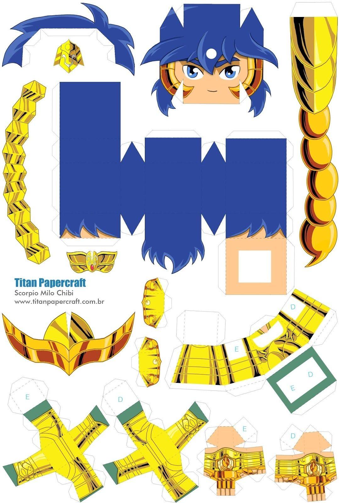 Persona Papercraft Monte E Colecione Papercraft De Seus Personagens Preferidos