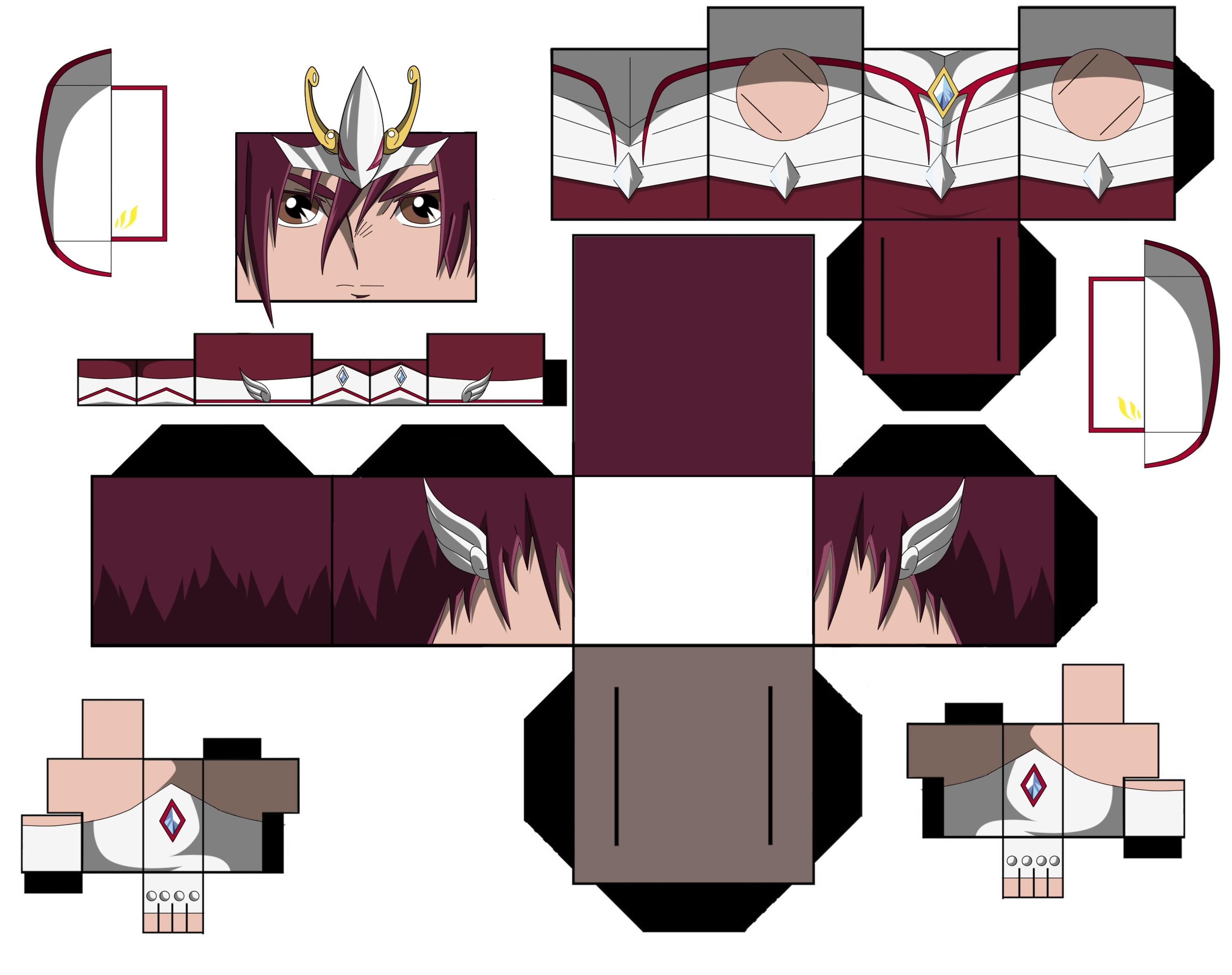 Persona Papercraft Pegasus Kōga Papercraft Kouga De Pégasu Papercraft 天馬座