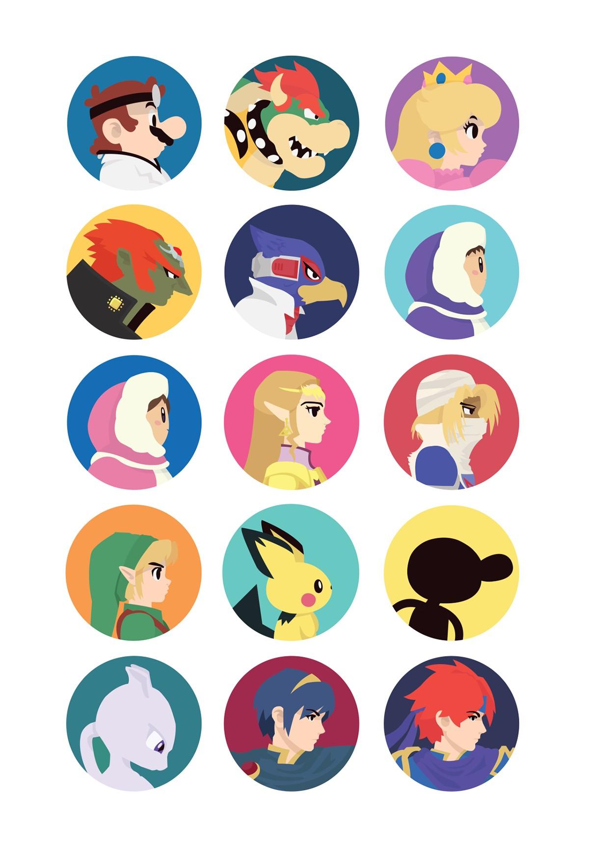 Pikmin Papercraft Gaming Portrait Icons Series 2 Super Smash Bros