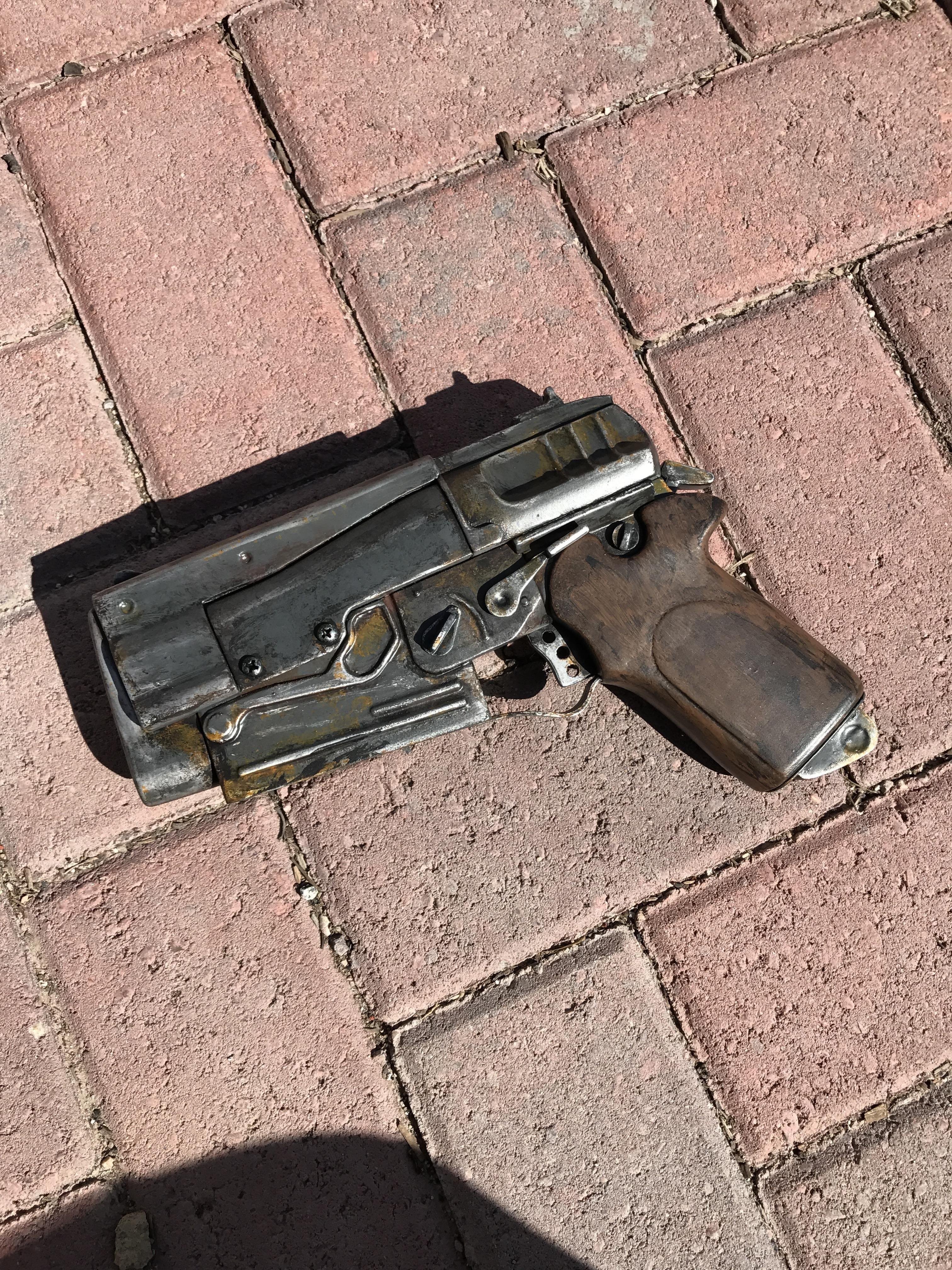 Pistol Papercraft Fallout 4 10mm Pistol Prop 3d Printed