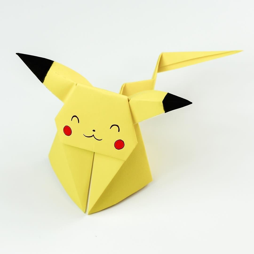 Pixelcraft Papercraft origami Pikachu Tutorial Cute origami Pokemon