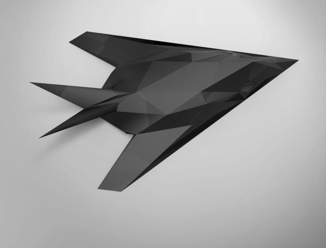 Plane Papercraft Printable Paper Craft Model F 117 Nighthawk Fighter Jet Diy Pdf