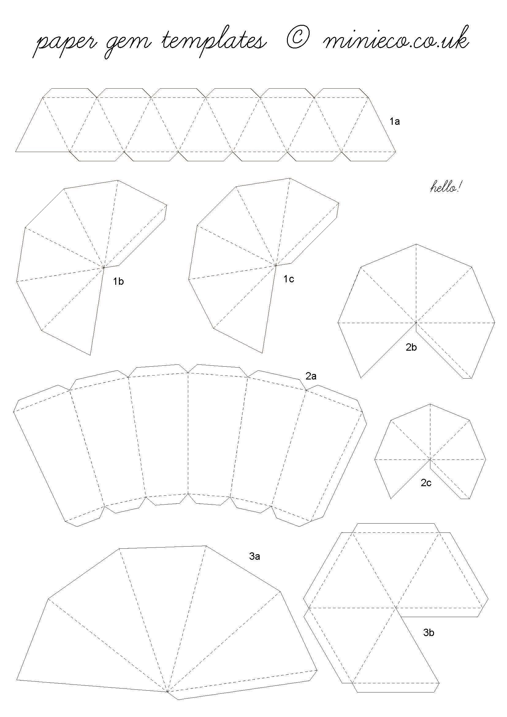 Plumbob Papercraft How to Make A Paper Diamond Paper Pinterest