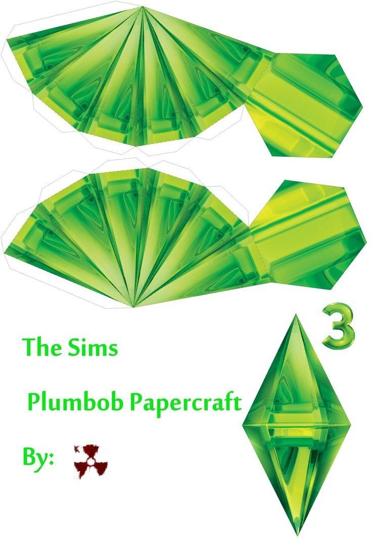 Printable Plumbob Papercraft