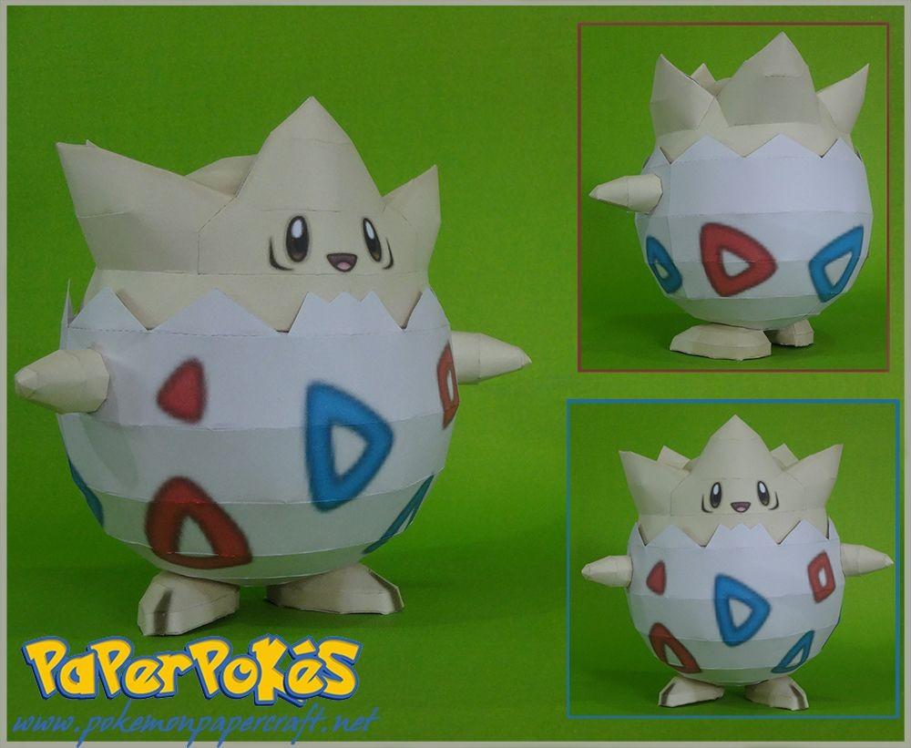Poke Papercraft 175 togepi Pokémon Papercraft Name togepi Type Fairy Species
