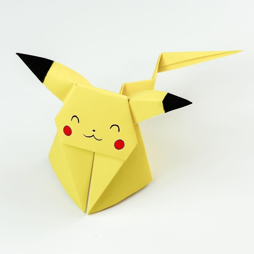 Poke Papercraft origami Pikachu Tutorial Cute origami Pokemon