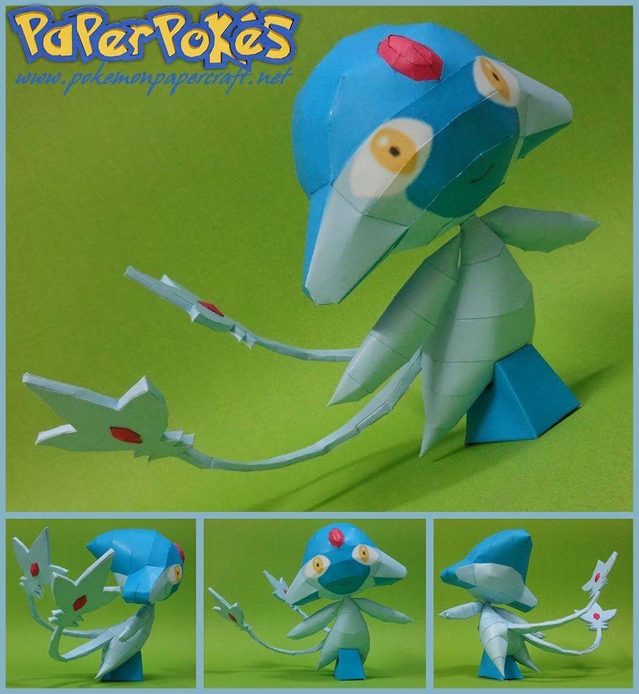 Poke Papercraft Paperpokés Pokémon Papercrafts Azelf Papercraft