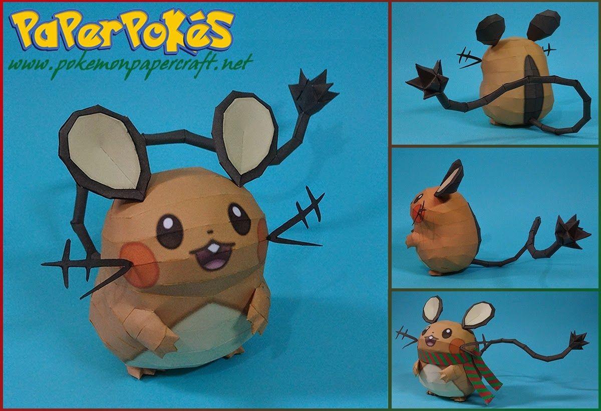 Poke Papercraft Pokemon Dedenne Papercraft Paper Pinterest