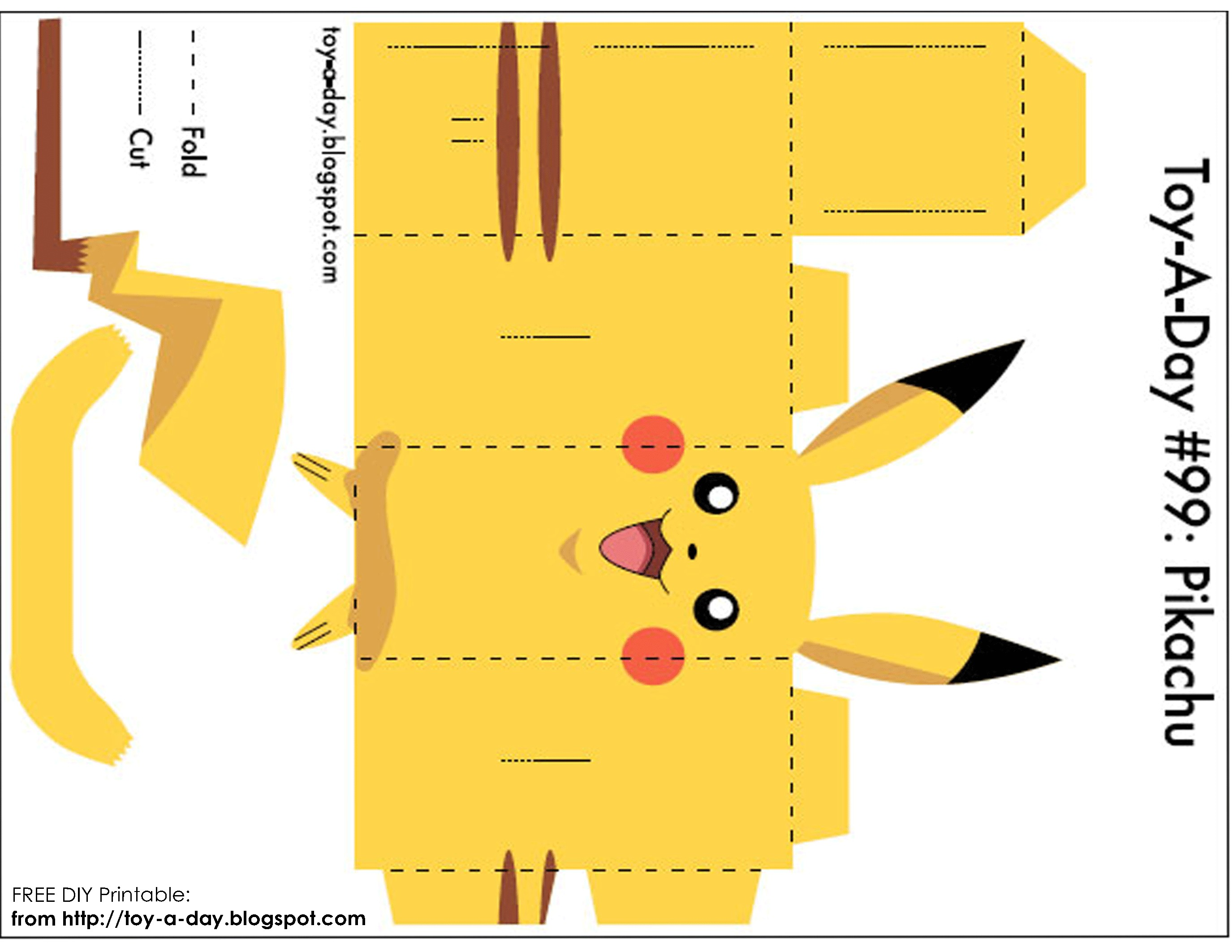 Pokemon Papercraft Diy Printable Paper Box Pocket Monster Pikachu Val
