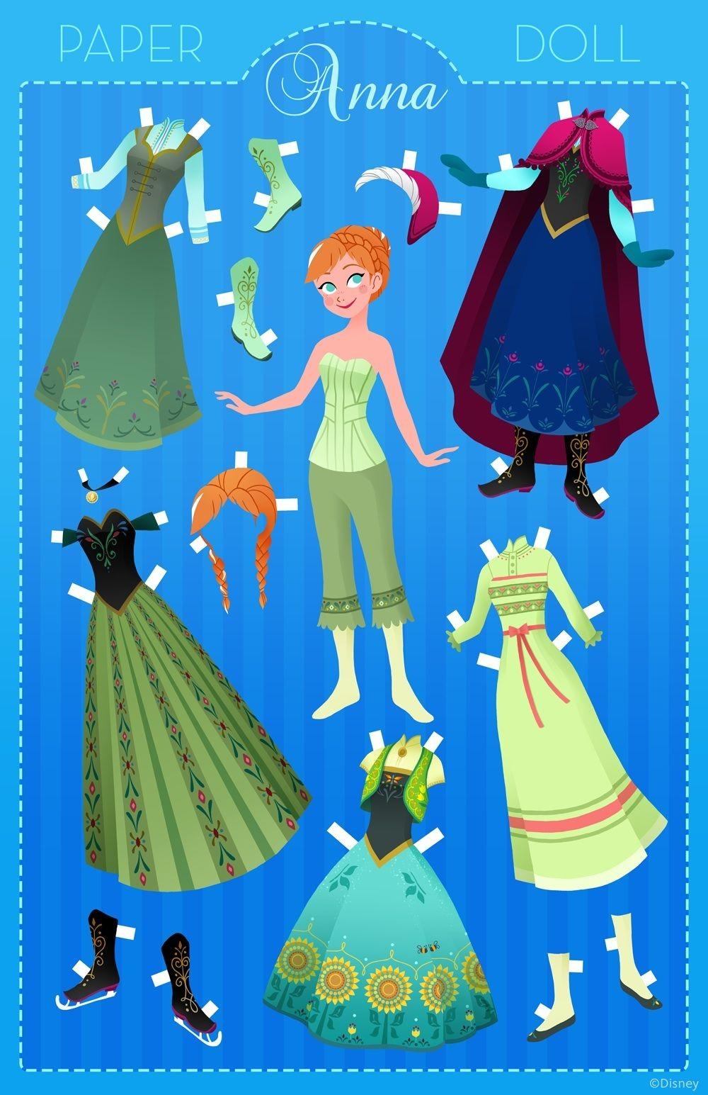 """Princess Papercraft Anna Papercraft Paper Dolls """"2"""" Pinterest"""