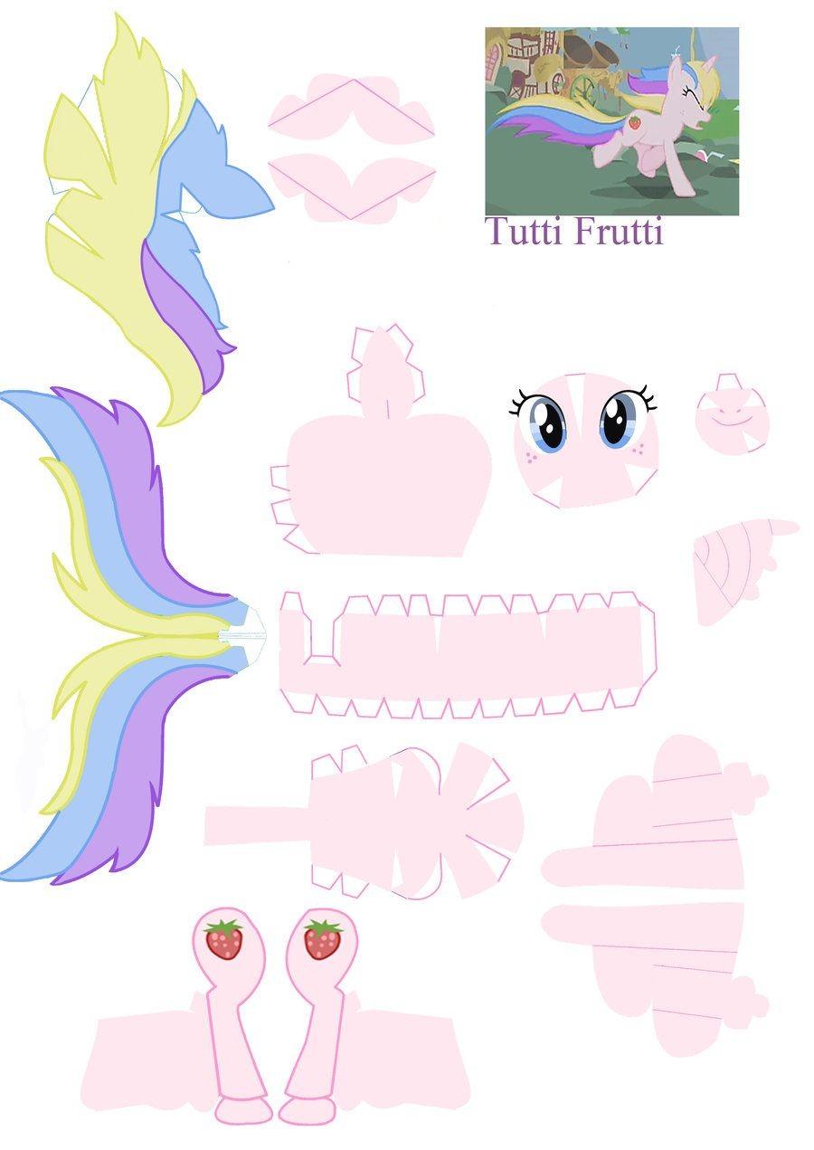 Princess Papercraft Tutti Frutti Papercraft by Nodreamsviantart On Deviantart