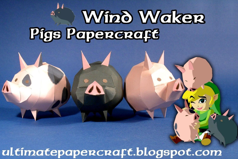 Rayman Papercraft Wind Waker Pigs Ultimate Papercraft Paper Craft