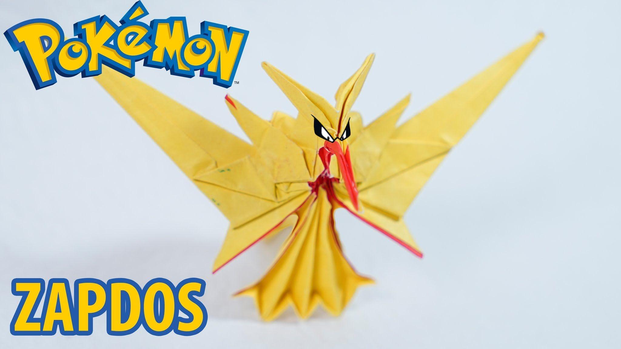 Rayquaza Papercraft Pokemon Go origami Zapdos Team Instinct Tutorial Henry Phạm