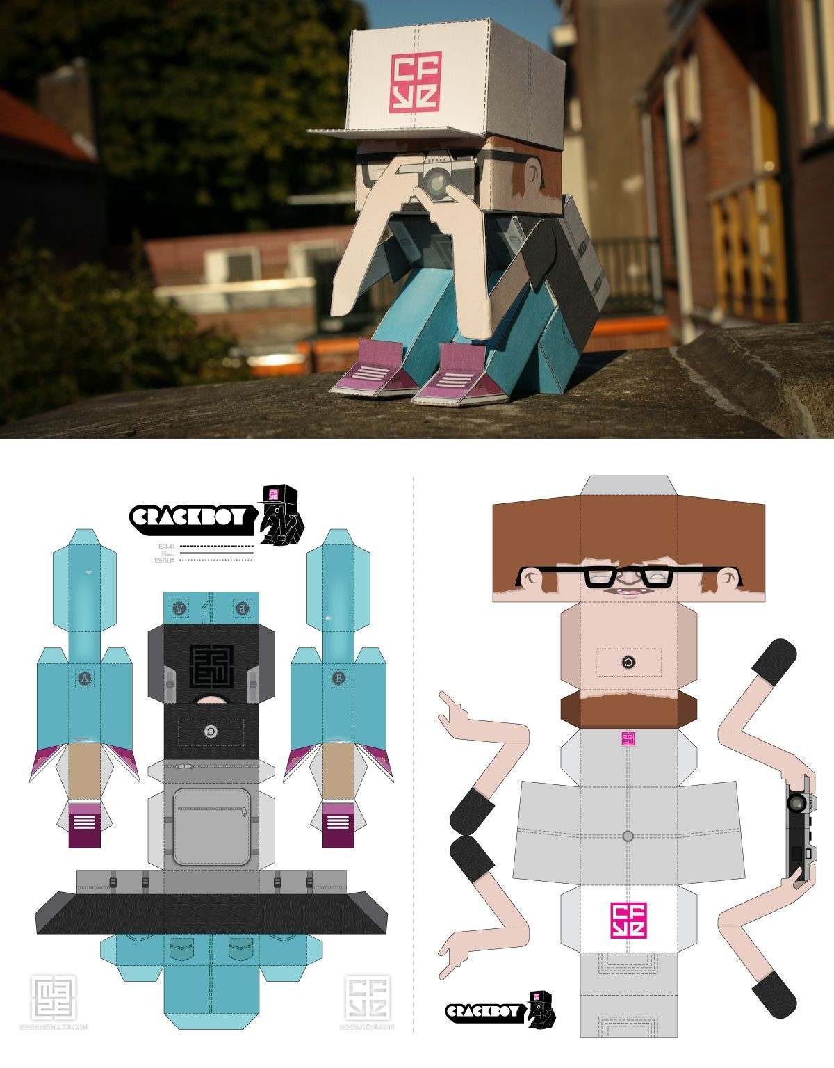 Robot Papercraft Papertoy Cfye Crackboy Pinterest