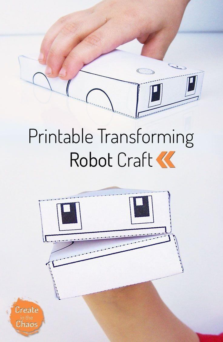 Robot Papercraft Round Robot Papercraft