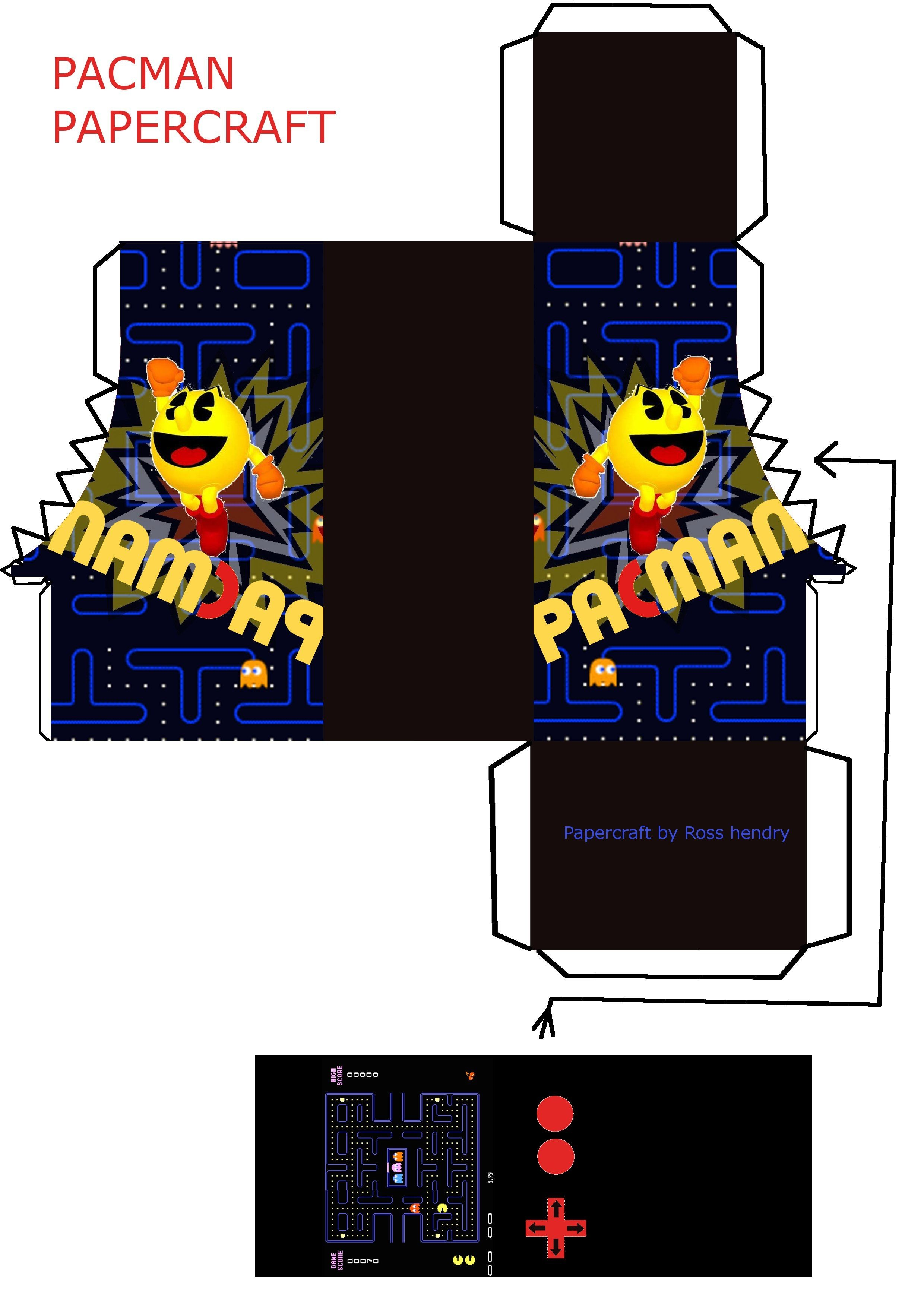 Ross Papercraft Show Pacman Paper toy