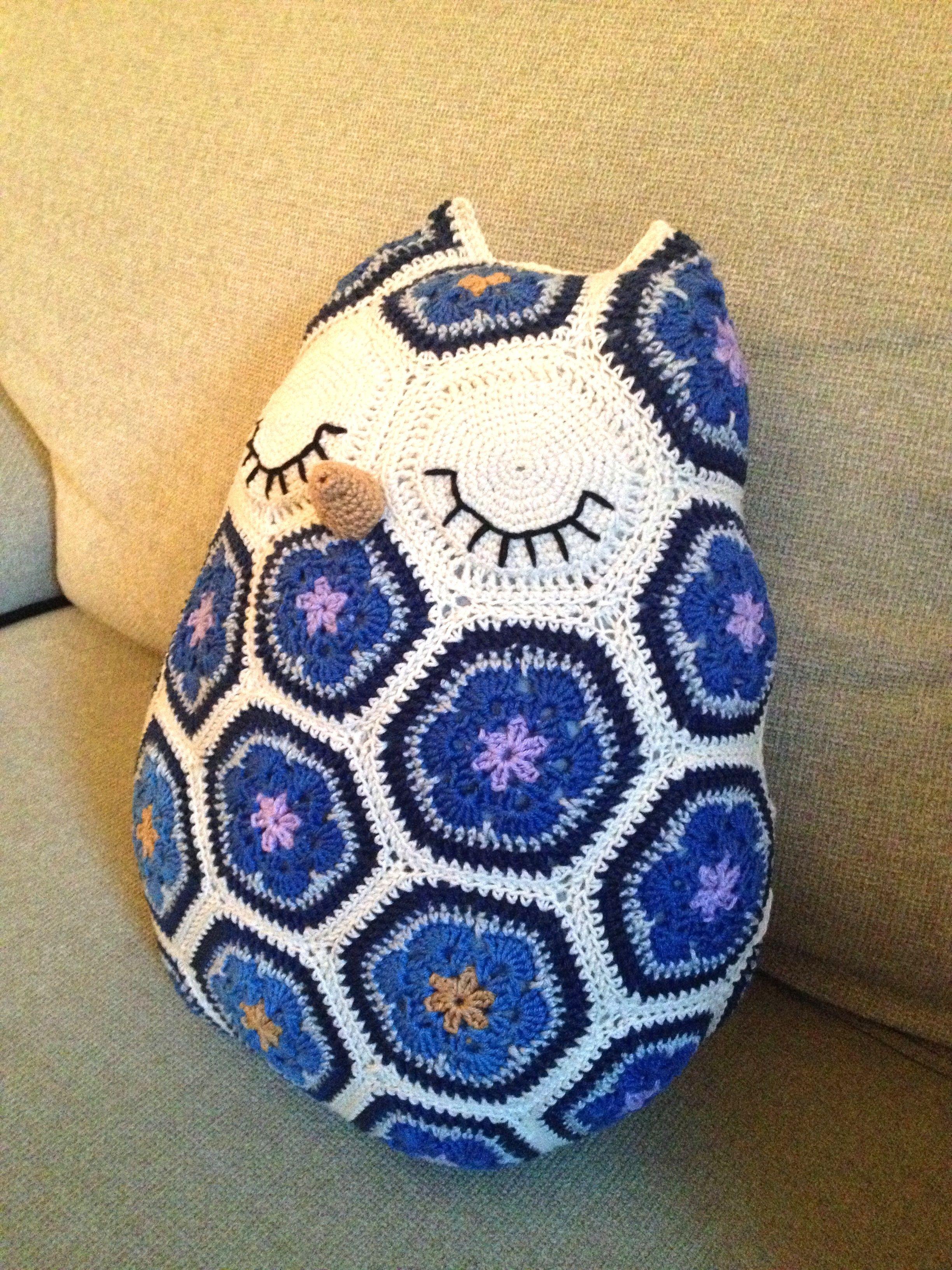 Sackboy Papercraft Crochet African Flower Owl Free Pattern Dancox for