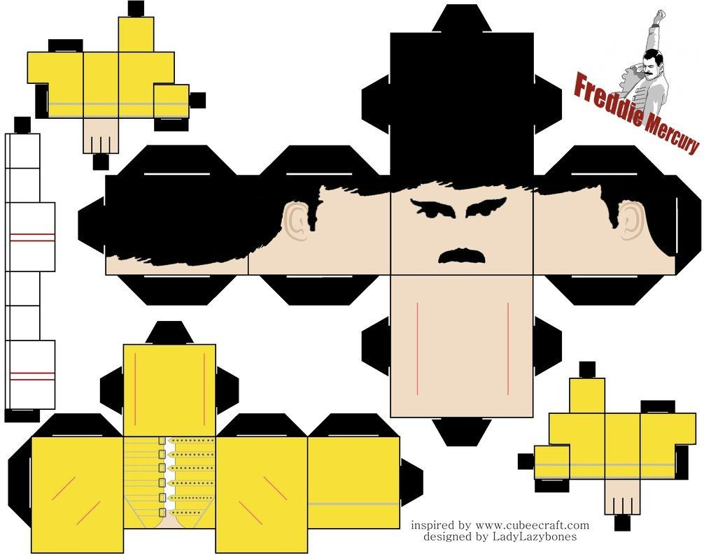 Sackboy Papercraft George Harrison Cubeecraft by Melopruppo On Deviantart Paper